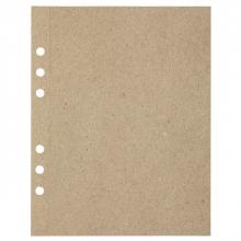 , Tekenpapier MyArtBook A5 110gr 6-gaats 20vel recycled kraft grijs