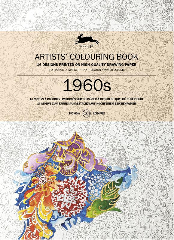 ,1960S Artists colouring book