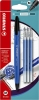 ,<b>Rollerpen STABILO Gel Exxx  blauw blister + 3 vullingen</b>