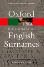 Reaney, P H Dictionary of English Surnames