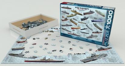 Eur-6000-0133 , Puzzel world war ii warships - eurographics - 1000 - 48 x 68