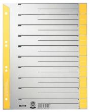 , Scheidingsbladen Leitz A4 karton 230gr 6-gaats geel