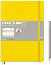Lt355288 , Leuchtturm notitieboek composition softcover 178x254 mm lijn lemon geel