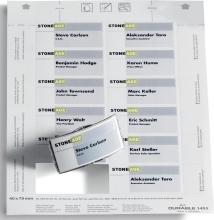 , Badgekaart Durable 1453 bedrukbaar 40x75mm 240stuks