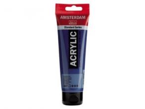 , Talens amsterdam acrylverf tube 120 ml groenblauw 557