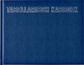 , Kasboek tabellarisch 210x160mm 96blz 8 kolommen blauw