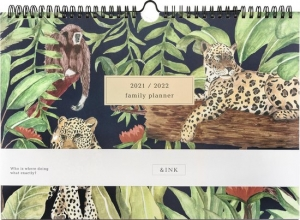 , &INK 16 Maanden Familieplanner 2021/2022 - Jungle