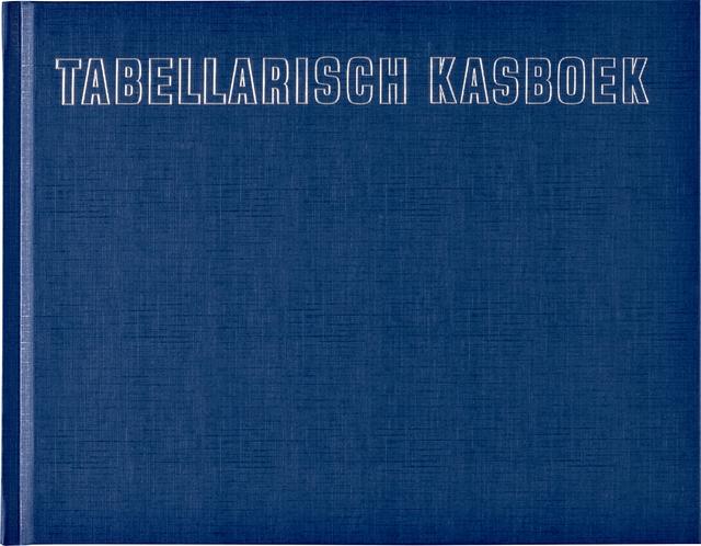 ,Kasboek tabellarisch 210x160mm 96blz 8 kolommen blauw