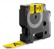 , Labeltape Dymo Rhino 18433 vinyl 19mmx5.5m zwart op geel