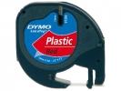 ,<b>Lettertape Dymo Letratag 12mmx4m Plastic Rood</b>