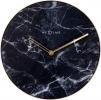 ,<b>Wandklok NeXtime Marble � 40 cm zwart</b>
