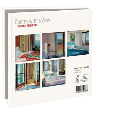 Wmc888,Notecards 10 stuks vierkant room with a view
