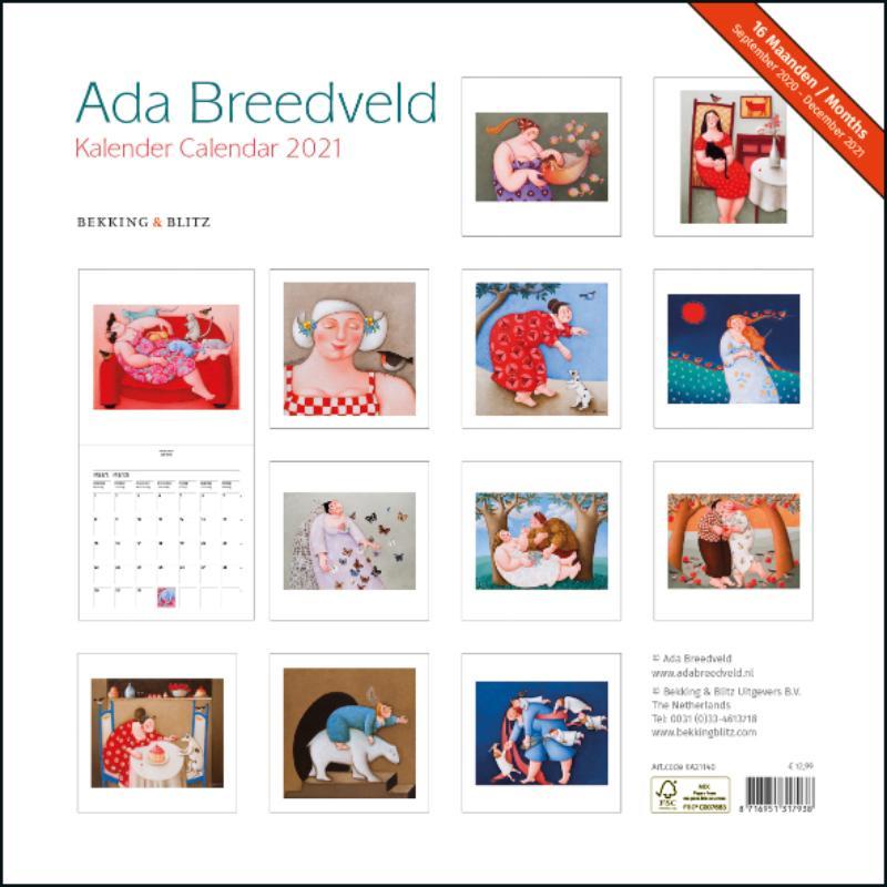 ,Ada Breedveld maandkalender 2021