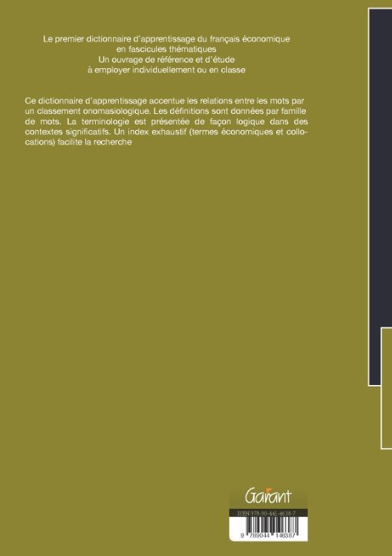 Jean Binon, Jan Van Dyck, Jacques Folon, Serge Verlinde,Dictionnaire contextuel du français économique Tome D: l` emploi