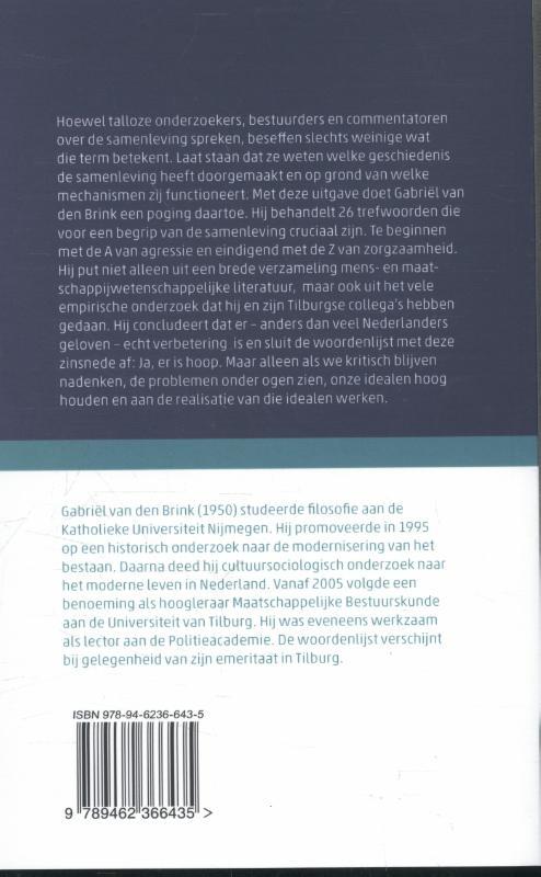 Gabriël van den Brink,Wat de samenleving kan betekenen