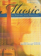 Benward, Bruce Workbook to Accompany Music in Theory and Practice, Volume 1 with Finale Discount Sticker