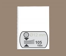 , Draadrug Fellowes 12mm 34-rings A4 zilver 100stuks