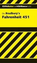 Hiner, Kristi CliffsNotes on Bradbury`s Fahrenheit 451