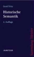 Gerd Fritz Historische Semantik