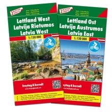 , F&B Letland West en Oost 2-kaartenset