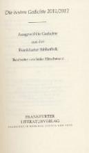 Frankfurter Bibliothek Die Lyrik des 21. Jahrhunderts. Dritte Abteilung Die besten Gedichte 2011/2012: Ausgewählte Gedichte aus der Frankfurter Bibliothek