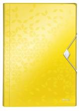 , Sorteermap Leitz WOW 6-vaks PP geel