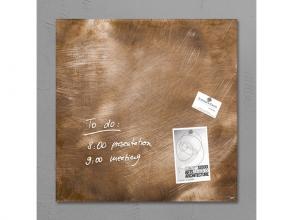 , glasmagneetbord Sigel Artverum 480x480x15mm brons