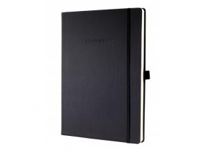 , notitieboek Sigel Conceptum Pure hardcover A5 zwart geruit