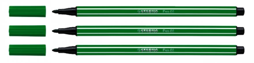 , Viltstift STABILO Pen 68/36 smaragd groen
