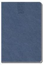 Taschenkalender A7 2017 Soft Touch Blau