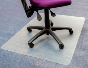 , Stoelmat Floortex PVC 120x150cm voor zachte vloeren