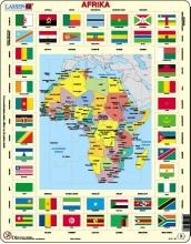 Larsen puzzel - Vlaggen Afrika - KL3
