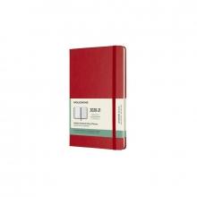 , Moleskine 18 MND Agenda - 2020/21 - Wekelijks - Large (13x21 cm) - Scarlet Red - Harde Kaft