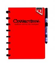 , Notitieboek Correctbook uitwisbaar en herbruikbaar Quantore A5 rood lijn 40blz