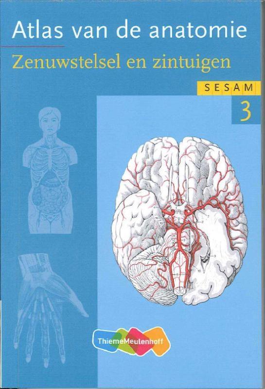Werner Kahle,Atlas van de anatomie 3 Zenuwstelsel en zintuigen