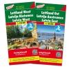 ,F&B Letland West en Oost 2-kaartenset