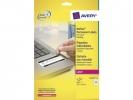 ,laseretiket Avery 45,7x25,4mm wit 20 vel 48 etiketten per   vel