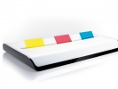 ,dispenser voor index EYE STYLE wit/zwart incl strookjes     3x50 vel