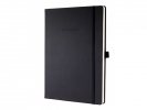,<b>notitieboek Sigel Conceptum Pure hardcover A5 zwart geruit</b>
