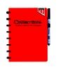 ,Notitieboek Correctbook uitwisbaar en herbruikbaar Quantore A5 rood lijn 40blz