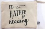 ,Etui I`d rather be reading (size medium) set 8 stuks