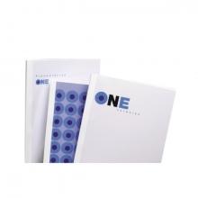 , Thermische omslag GBC A4 4mm transparant/wit 100stuks