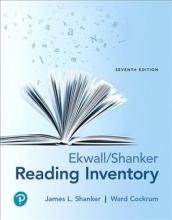 Shanker, James L.,   Cockrum, Ward A. Ekwall Shanker Reading Inventory