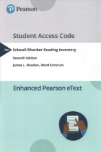 Shanker, James L.,   Cockrum, Ward EkwallShanker Reading Inventory PearsoneTtext Access Card
