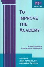 Jossey-Bass Publishers To Improve the Academy