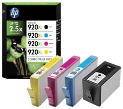 , Inktcartridge HP C2N92AE 920XL zwart + 3 kleuren HC