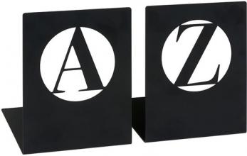 Mos-83083 , Libri boekensteun a - z , modern, zwart