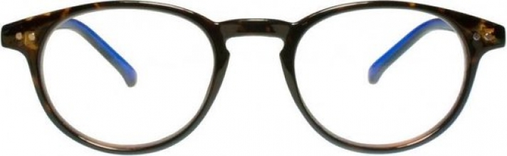 Rce003 , Leesbril icon demi with blue temples 1.00