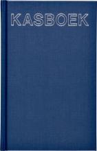 , Kasboek 103x165mm 192blz 1 kolom blauw