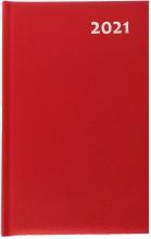 , Agenda 2021 efficiency a5 1 dag per pagina rood